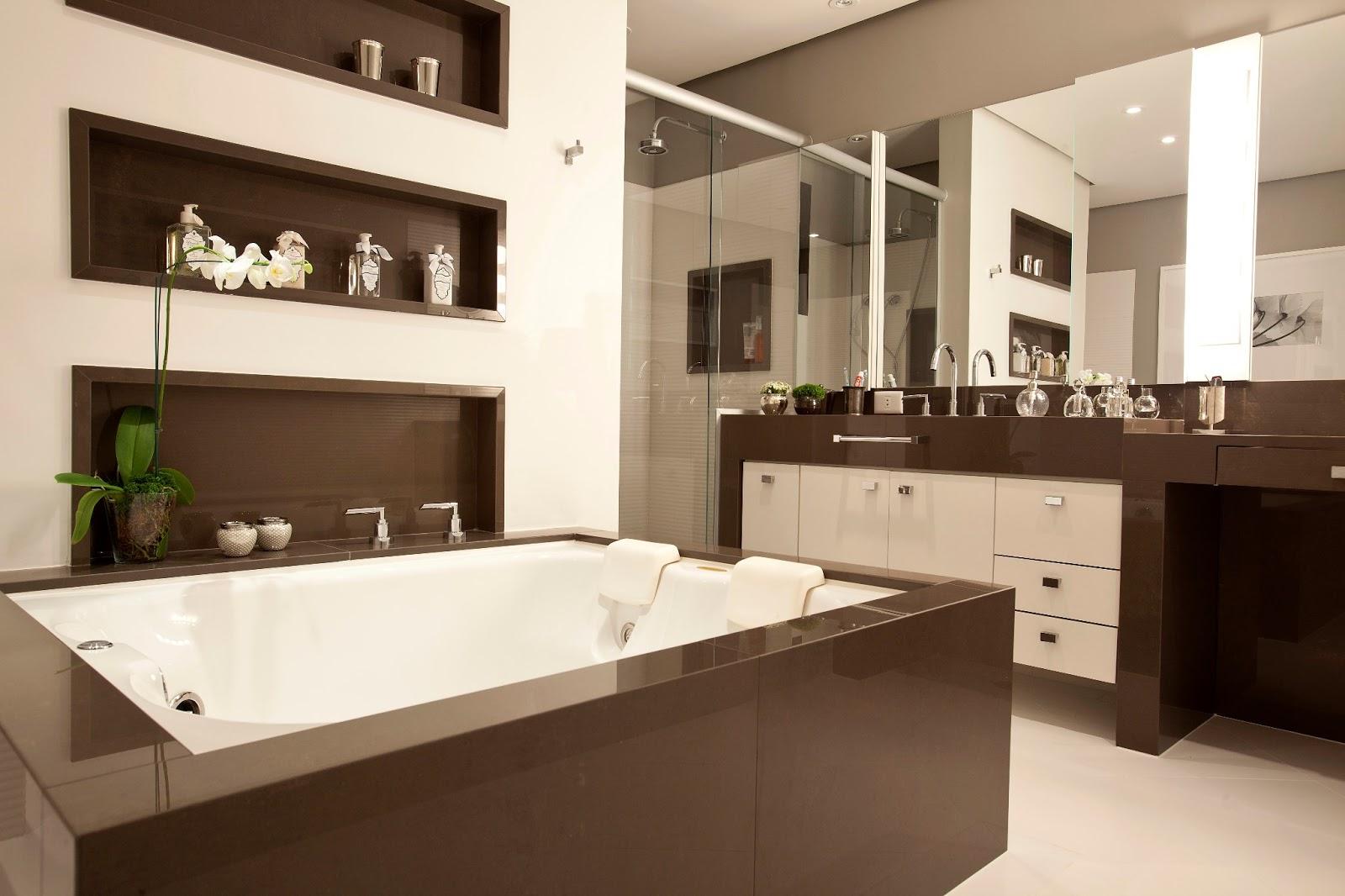 Projeto de banheiro feminino by Eliane Sampaio Interiores. #495D13 1600 1066