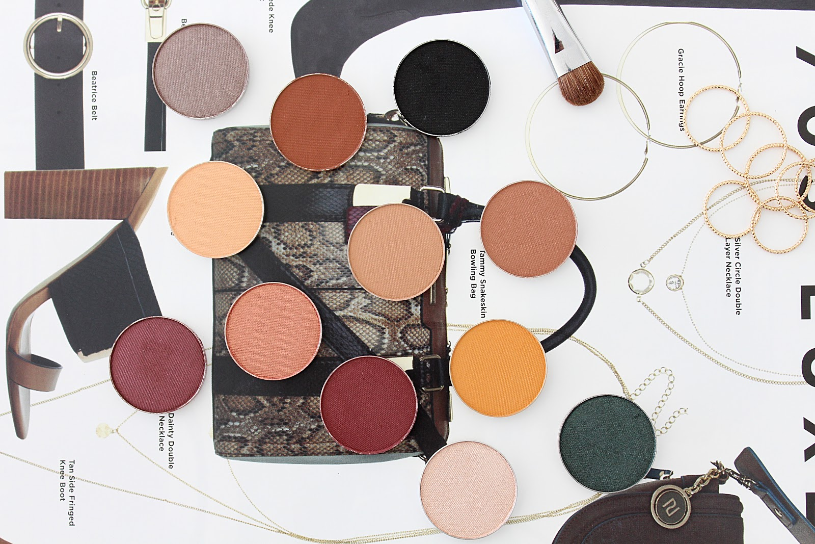 Makeup Geek Eyeshadow Swatches and Review