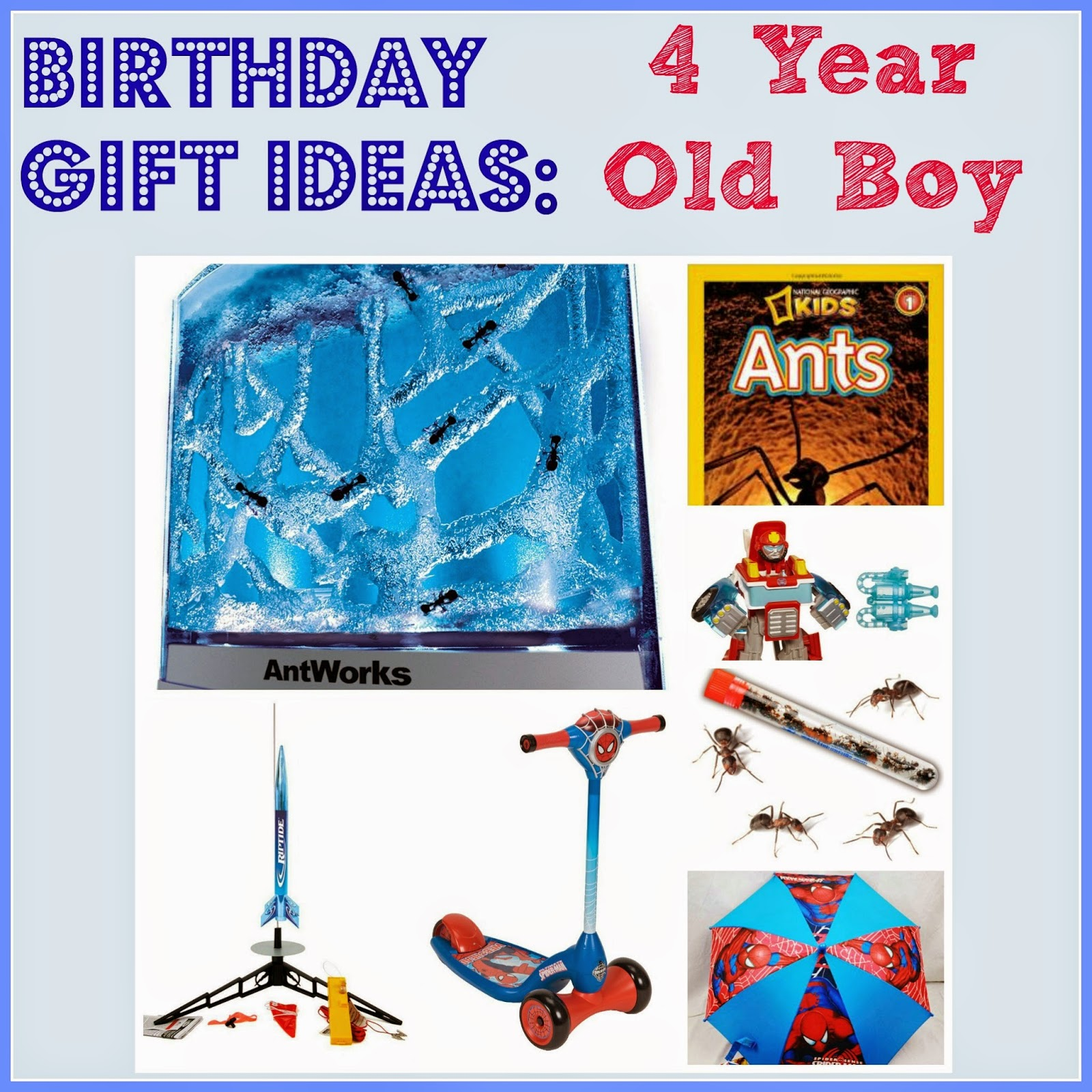 Birthday gift ideas for a 4 year old boy.  What to get a 4 year old boy for his birthday.  boy birthday ideas.