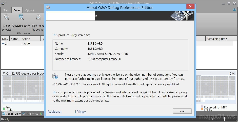 O&O Defrag Professional Edition 21.1 Build 1211 Serial Key & Keygen