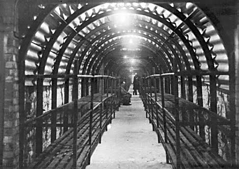 Wymering Air Raid shelter bunks