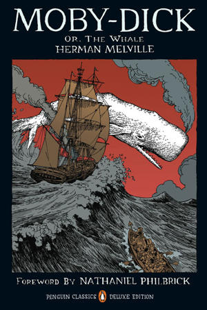 a review of herman melvilles book moby dick (actual review starts here) – the problem with the book (or its brilliance if you are  patient enough) is that melville is a tease the first 80 pages.