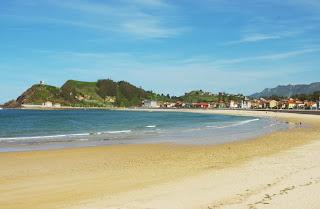 Ribadesella, vista de la playa