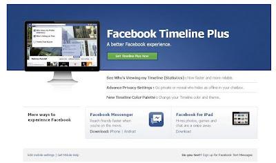 Facebook timeline plus