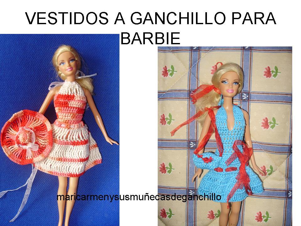 Maricarmen y sus muñecas de ganchillo: VESTIDOS PARA BARBIE DE GANCHILLO