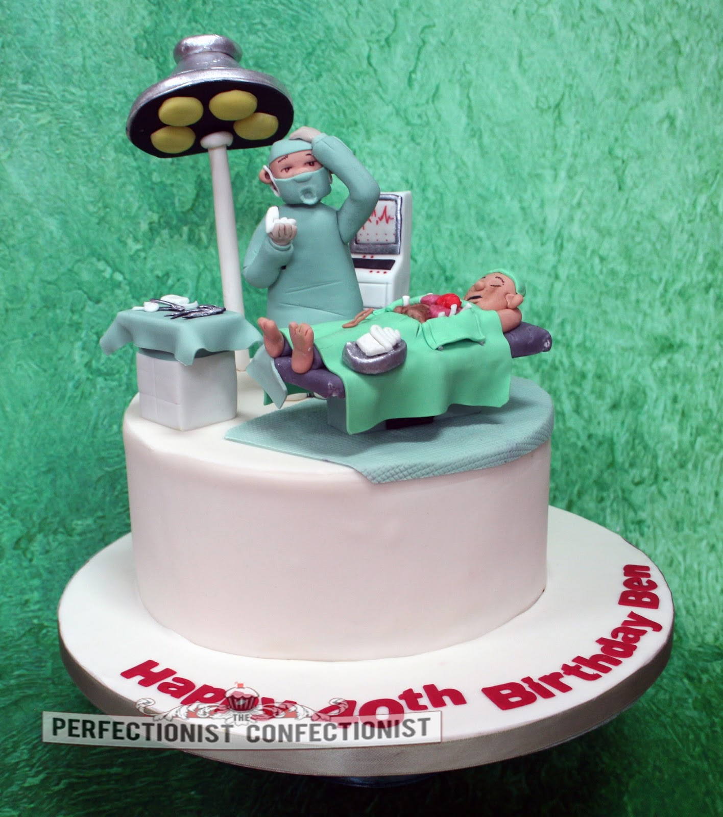 The Perfectionist Confectionist Ben Heart Surgeon 40th Birthday Cake