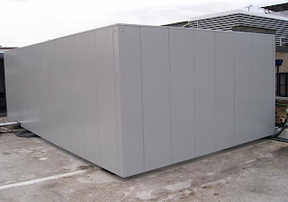 Pantalla acústica en climatizadoras realizada por Innovacústica