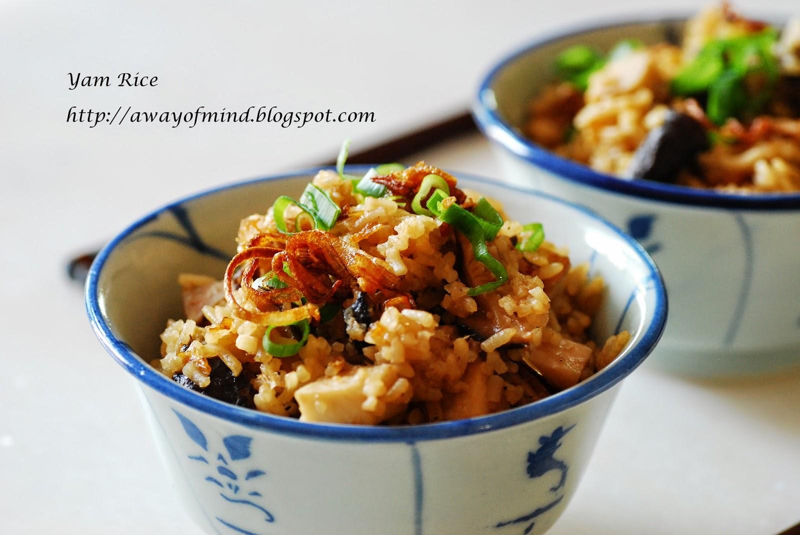 Awayofmind Bakery House: Yam Rice (Taro Rice 芋头饭)