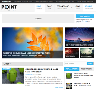 Point Blogger Template Free Download