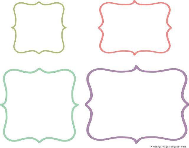 Nestling friday freebie diy chalkboard labels for Decorative labels for printing