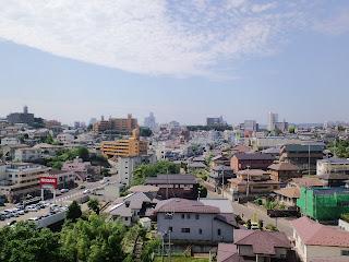 写真:屋上から見た仙台市街方面の風景