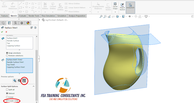 surfaces solidworks 2016