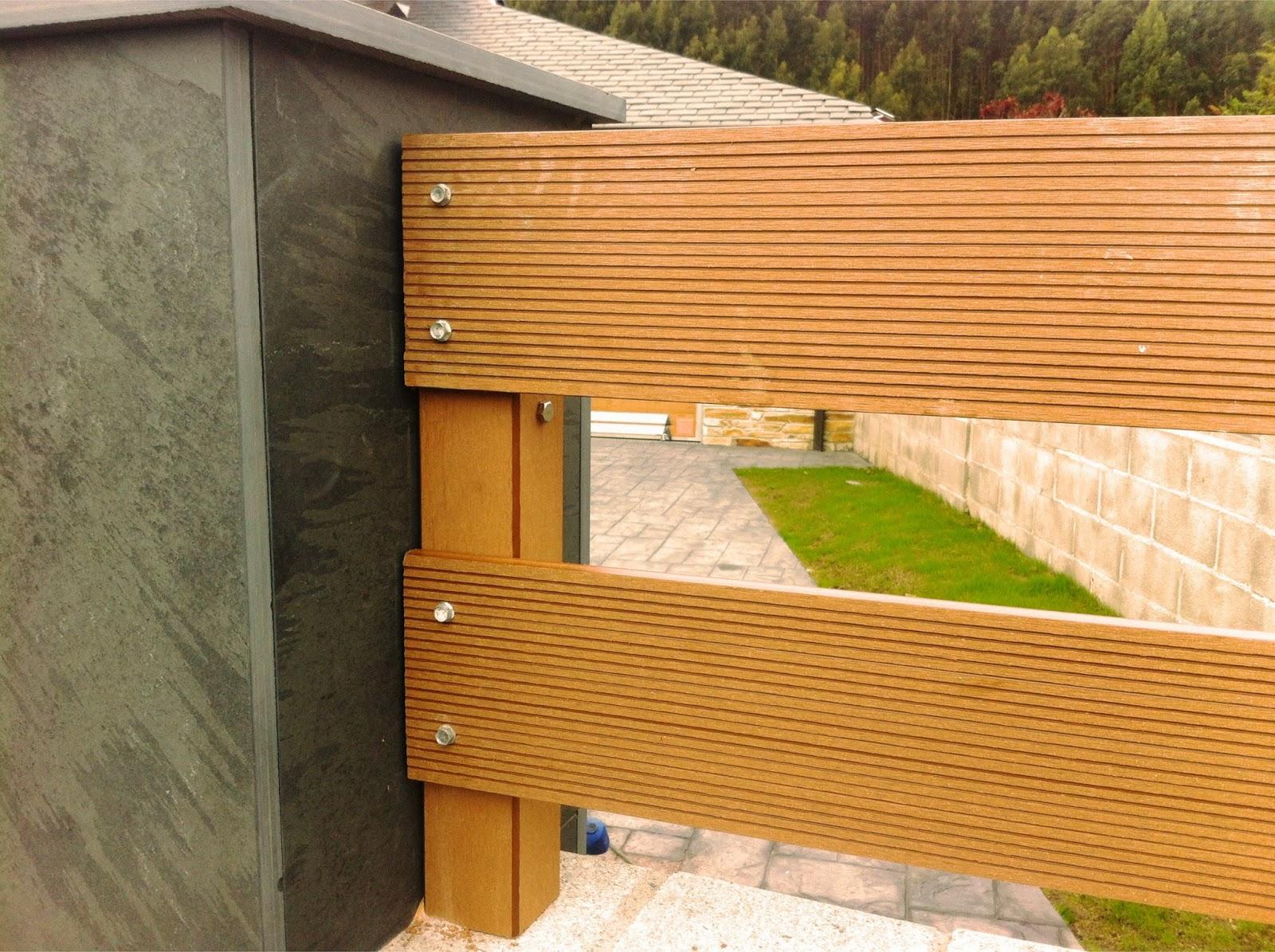 Vallas de jardin cantabria for Jardin con madera