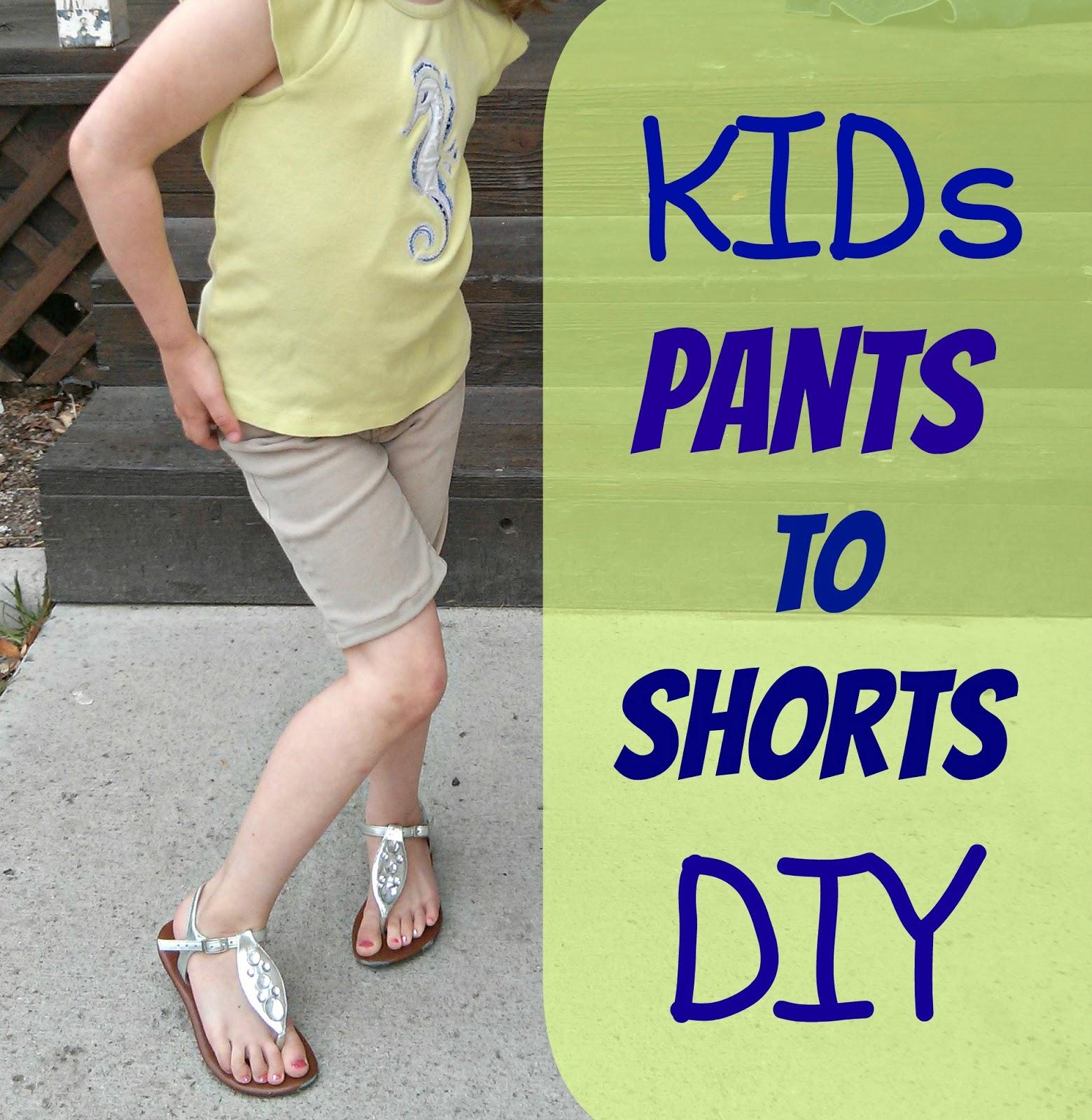 DIY pants into shorts