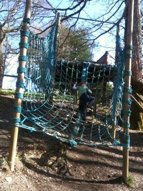 cargo net at Brockhole