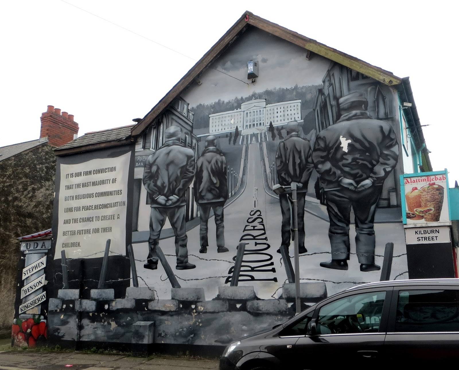 Discovering the belfast murals their turbulent history for Mural belfast