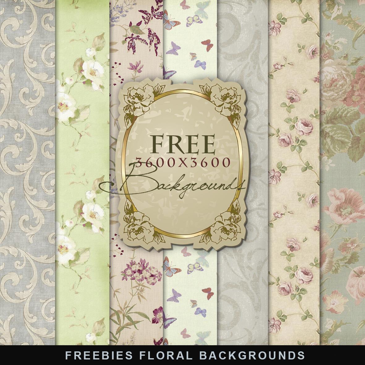 Freebies floral background