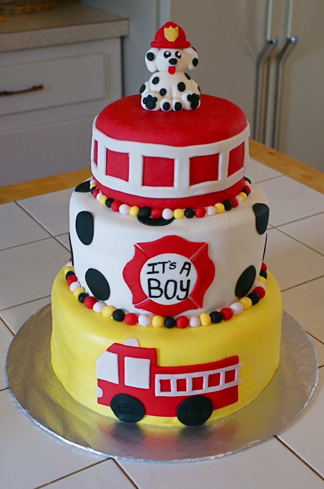 Firefighter Themed Birthday Cakes