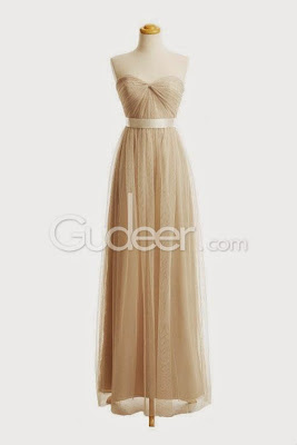 Gudeer: Champagne and Tulle Dress