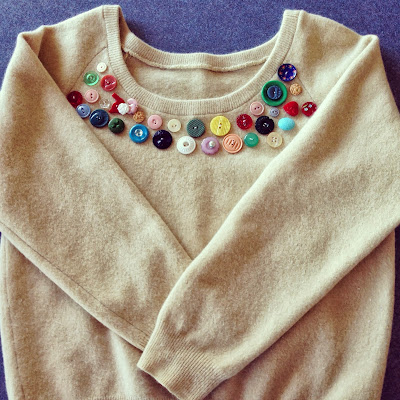 button jumper op-shop find