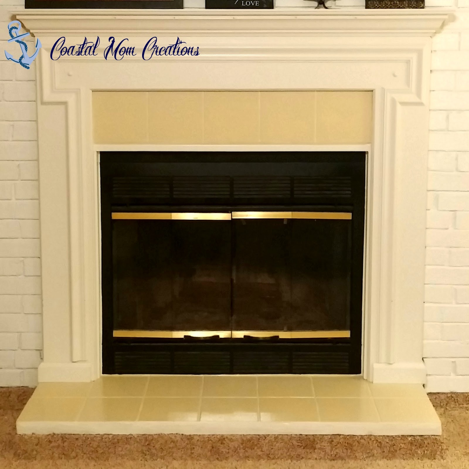 coastal mom creations how to update fireplace tile