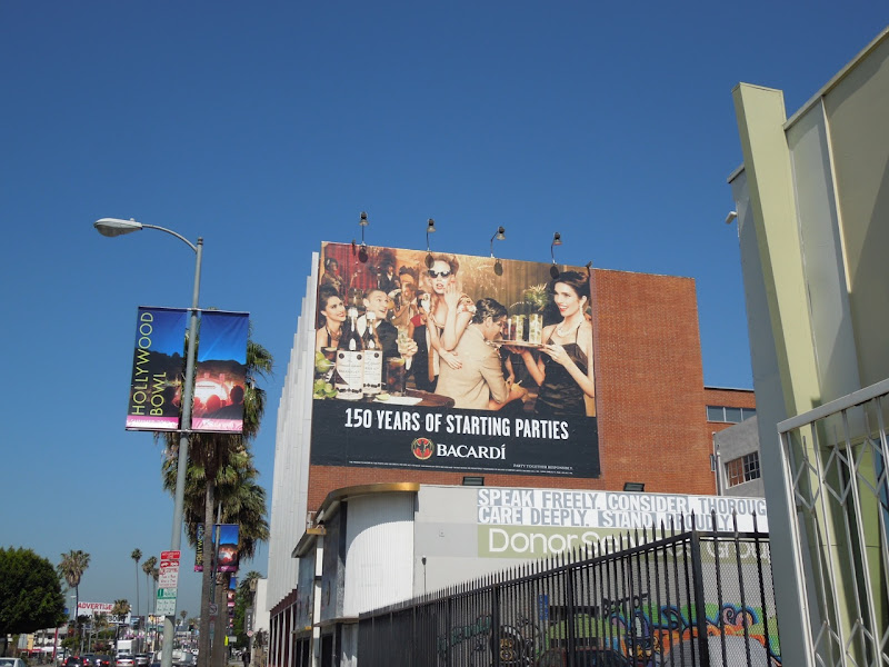 150 years of starting parties Bacardi billboard