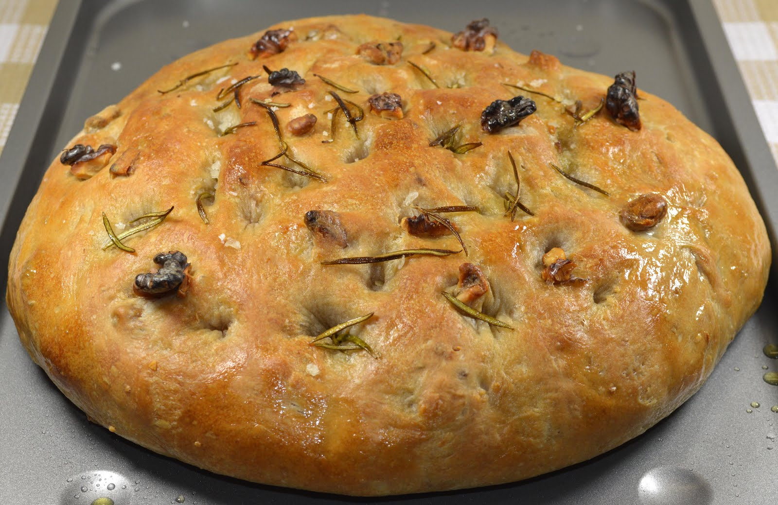 Kitchen Delights: Walnut & Rosemary Focaccia