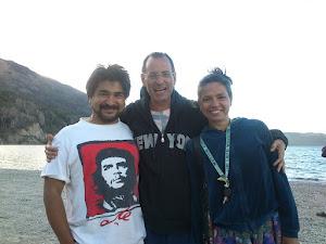 Amigos de la playa del Lago Moreno
