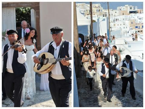 Boda griega en Santorini