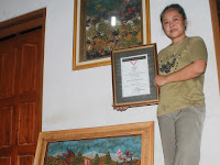 Butuh 1.200 Lembar Daun Sirsak untuk Selesaikan Lukisan Butter Fly