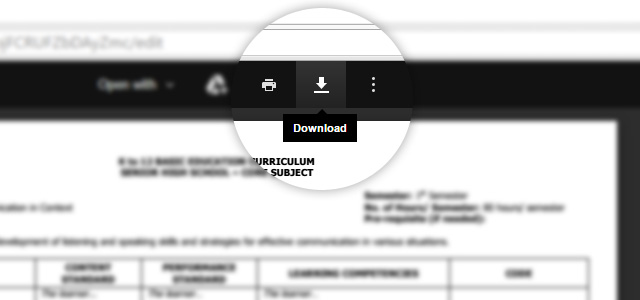 Senior High School Curriculum Guides From DepEd