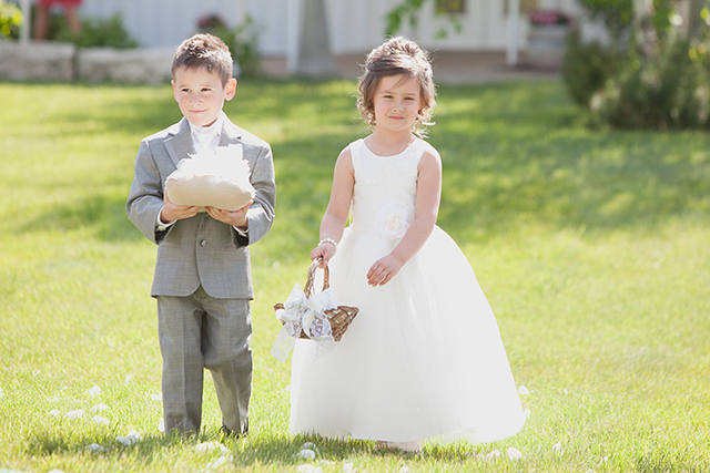 Flower girl & ring bearer.