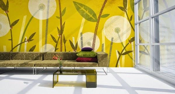 Papier Peint Jaune Et Noir - Papier peint jaune Papiers peints Jaunes Graham & Brown