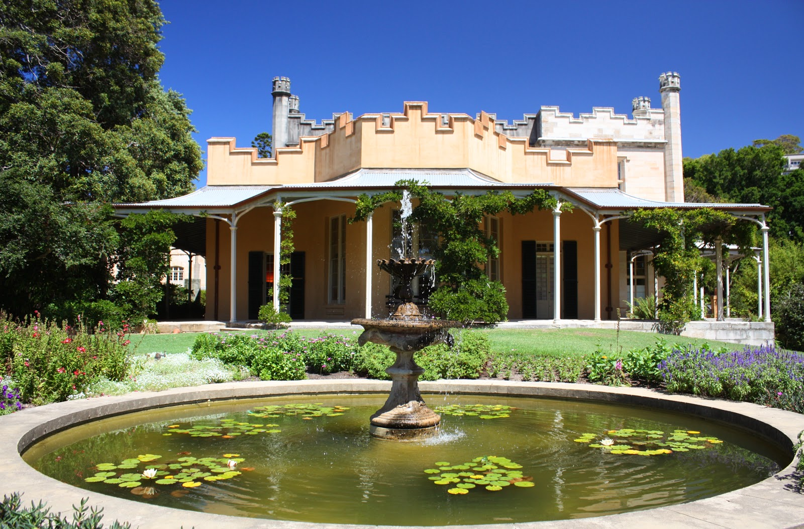 This fountain stands outside Vaucluse House, in the eastern suburb of  Vaucluse, which is named after the historic estate.
