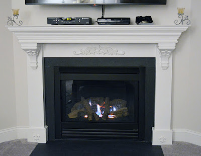 DIY French Country Fireplace Surround