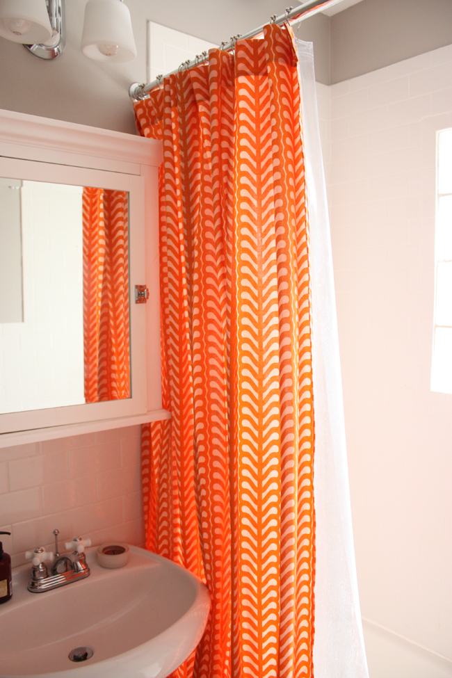 Orange And Blue Shower Curtains