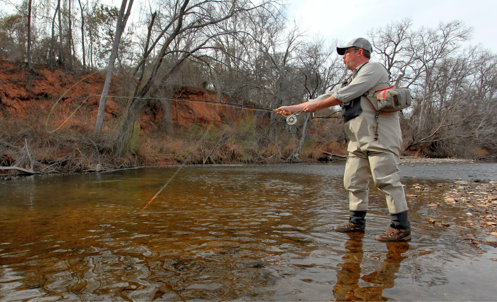 Earth worn soles for Brazos river fishing