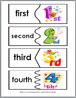 https://www.teacherspayteachers.com/Product/Ordinal-Words-and-Numbers-Word-Wall-Matching-Cards-and-Puzzles-236907