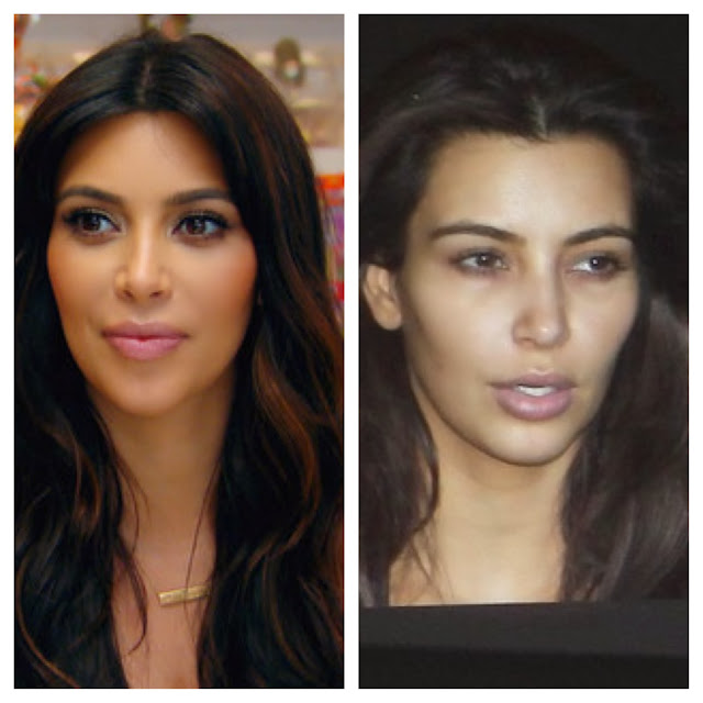 kim kardashian with or without makeup
