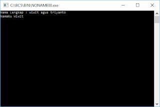 Contoh Program C++: Menggunakan Perintah COUT