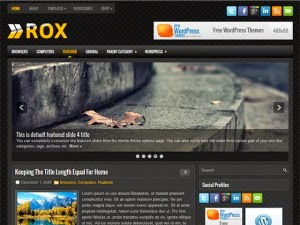 Rox - Free Wordpress Theme