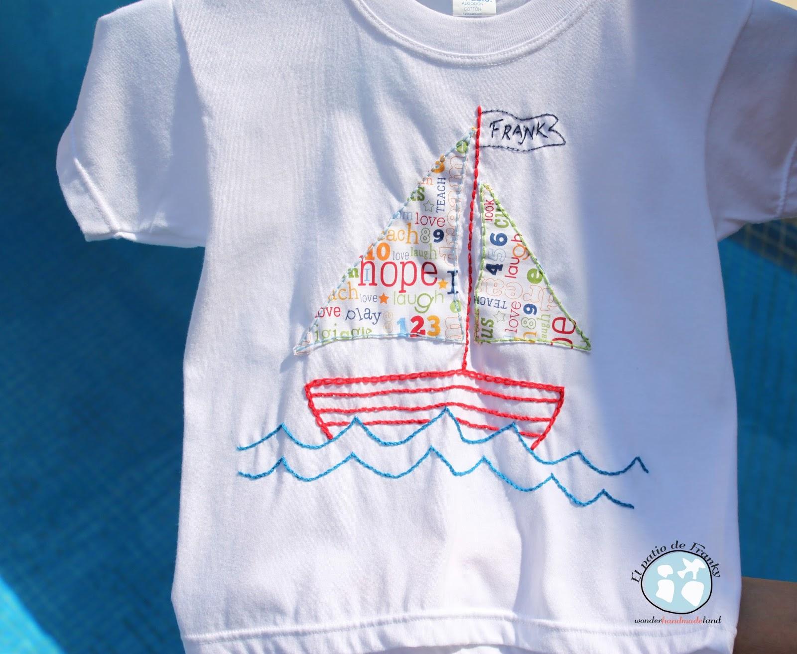 Camiseta marinera bordada