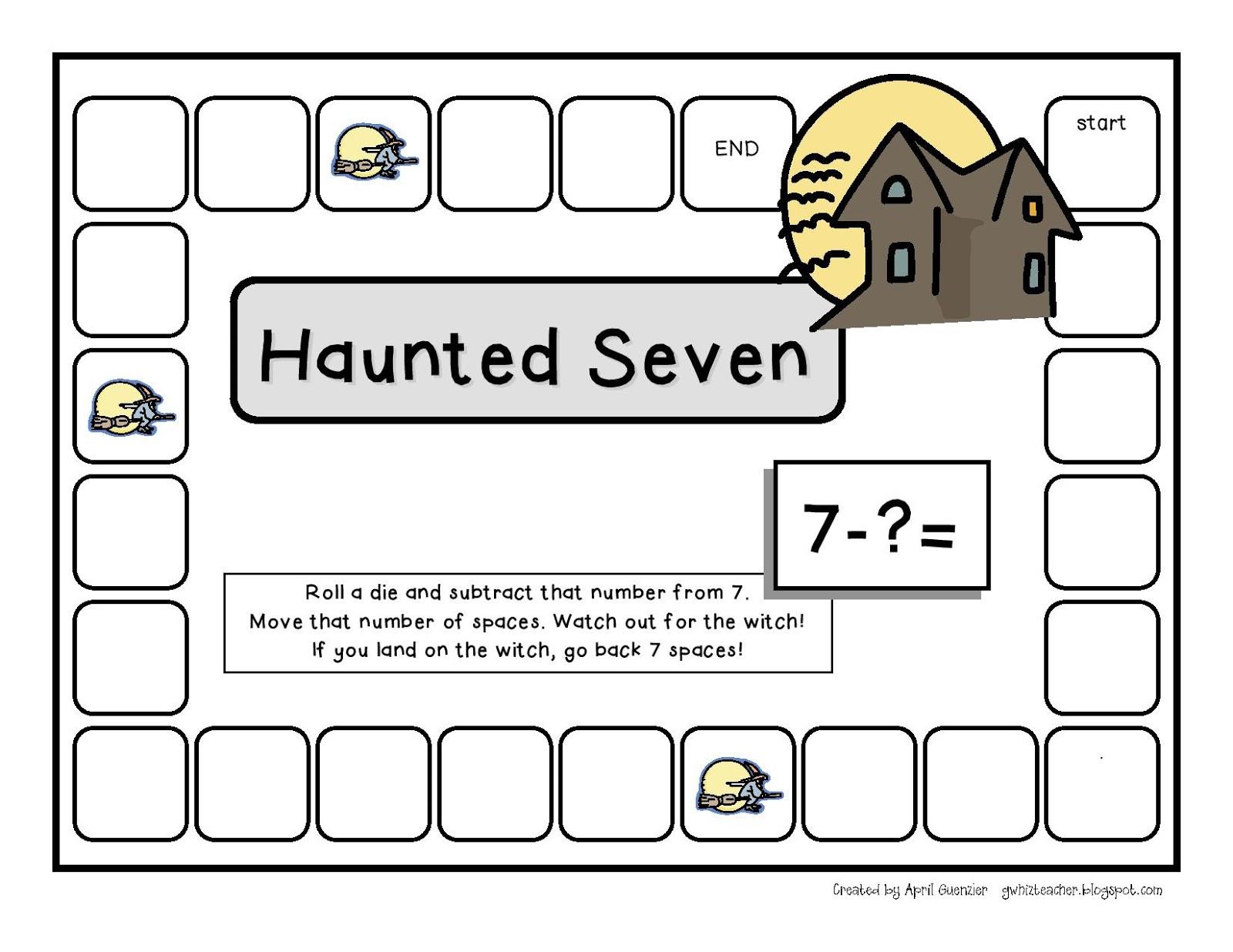 gwhizteacher: Halloween Math Game Freebie