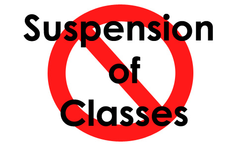 Class suspensions for Dec. 8, Monday