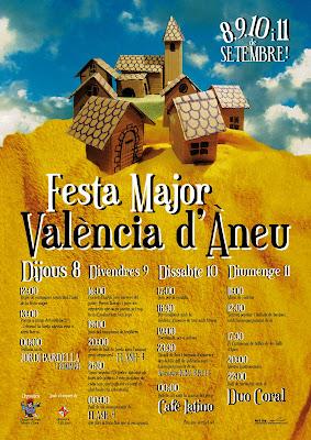 cartell festa major valència d'àneu 2011 cartel fiesta myor valencia de aneo