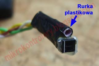 Czujnik prędkości (transoptor zbliżeniowy KTIR0711S wraz z rurką mocującą).