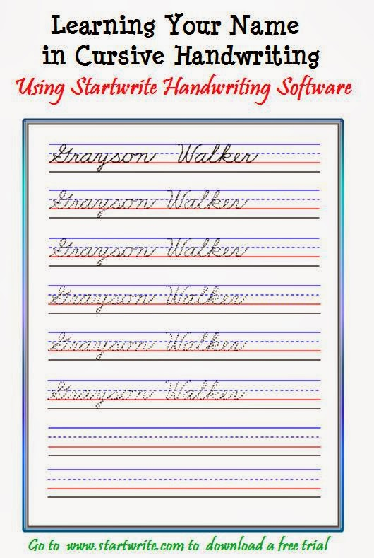 Custom handwriting worksheets