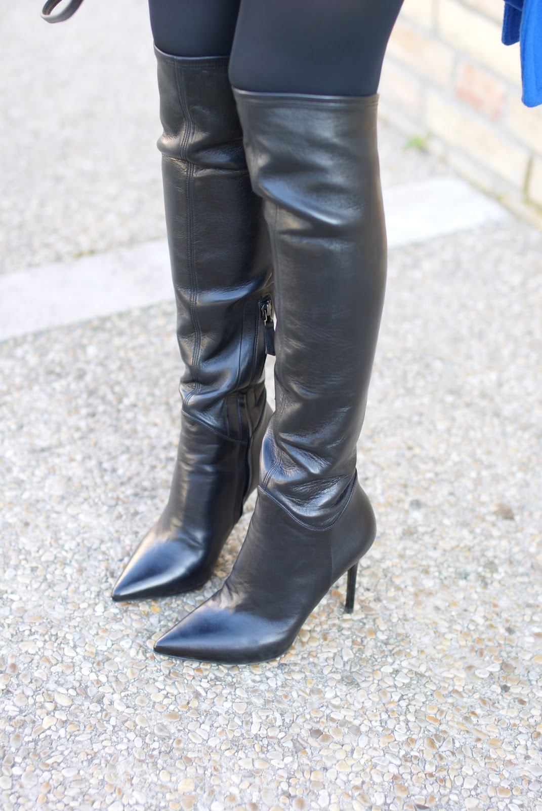 Nando Muzi over the knee boots on Fashion and Cookies fashion blog, fashion blogger