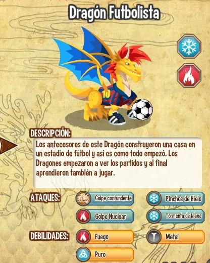 dragon futbolista caracteristicas