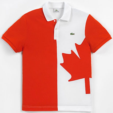 polo bandera de Canadá